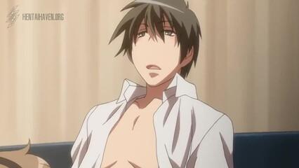 Японское порно аниме без цензуры с грудастой любительницей спермы
